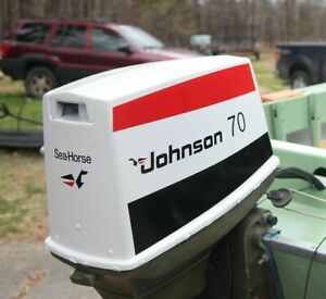 Johnson Outboard 1970's through 1985 70hp boat motor Decal Kit + Free Shipping!