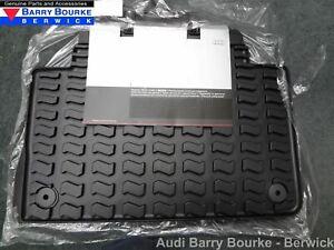 New Genuine Audi Q7 Rear Rubber Floor Mats Black Part Number 4L0061511041