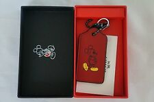Coach x Disney Mickey Hangtag ~ Department Store Exclusive ~ Red ~ New with Box