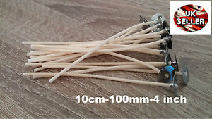 500 x 10cm~100mm~4inch  Pre Waxed Wicks with Metal Sustainers High Quality