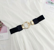 Ladies Women Fashion Gold Wide Narrow Stretch Elastic Waist Belt Party Gifts UK