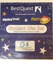 Math'scool & Algebra'scool Student DVD Disc Set Best Quest Teaching Systems