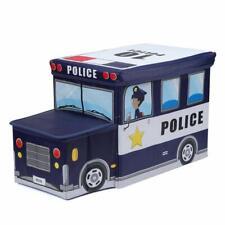 Coffre de rangement Camion de Police Bleu