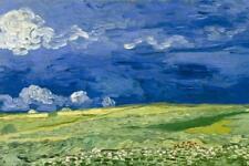 Vincent van Gogh Wheatfield Under Thunderclouds Art Print Poster 24x36 inch