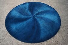 60er Space Age TEPPICH Vintage CARPET RUG Rund Ø 195 cm Panton Ära 70s Wolle