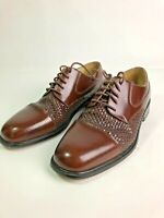 Florsheim Salinger 18232 Mens Brown Cap Toe Woven Dress Oxford Shoes Size 10.5 D