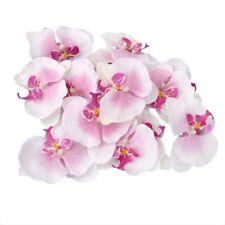 Lot de 20pcs 9cm Orchidee Papillon Fleur Artificielle Tete de Fleur Decor G1R5