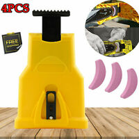 Chainsaw Teeth Grinding Stone Sharpener Bar Mount Blade Self Sharpening Tool Kit
