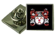 Spalding SCOZIA Stemma di Famiglia Stemma bavero pin badge inciso Regalo Custodia