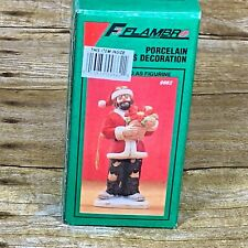 Flambro Emmett Kelly Jr  1991 Porcelain Christmas Ornament Signature Collection