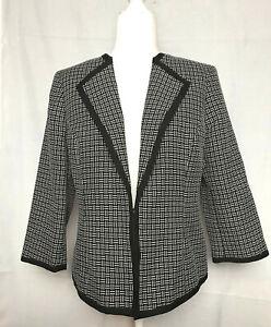 Kasper Jacket - Size 12 - Black & White