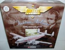 Avion de ligne commercial miniatures en métal blanc