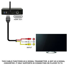 1080P 5Ft HDMI Male to 3 RCA Video Audio Cord Component AV Adapter Cable HDTV