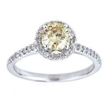 Anelli con diamanti oro bianchi h , Purezza metallo 14 Carati