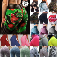 Women Yoga Pants Pockets High Waisted Floral Sport Gym Fitness Leggings Stretch