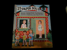 The Little Red Schoolhouse 25 Paper Dolls Vtg McLoughlin Bros. by Margot Voigt