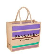 Waitrose Shopping Bag Pancakes & Blueberries Reusable Bag Purple TOTE - BNWT
