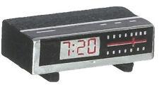 Radio Despertador, Casa De Muñecas Miniaturas, accesorio dormitorio, Reloj Despertador Digital