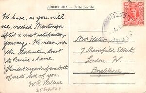 MONTENEGRO - PPC Postcard used from Cettigne to the UK,  1908