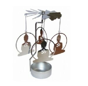 Buddha Tealight Powered Metal Spinning Decoration (O8)