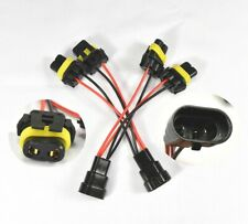 9005 9006 Male-Female Extended Wiring Harness Connector Plug Adaptor Socket Head