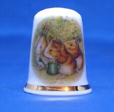Birchcroft China Thimble -- Beatrix Potter -  Guinea Pigs -- Free Box