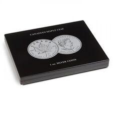 Leuchtturm Münzkassette für 20 Maple Leaf-Silberunzen in Kapseln, schwarz