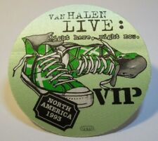 Van Halen Right Here Right Now Backstage VIP Pass Original 1993 Hard Rock Green