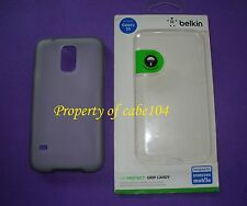 Belkin Air Protect Grip Candy Protective Case For Galaxy S5 Clear Cover