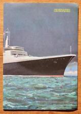 CUNARD LINE RMS QUEEN ELIZABETH 2 QE2 MASTER MARINERS MENU 1969 IN SOUTHAMPTON