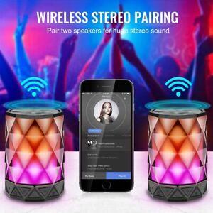 Jewel Portable Wireless Bluetooth Speaker COLOR LED Night Light 6 Light Modes