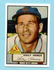 1952 Topps Baseball Reprint # 196 Solly Hemus -- St. Louis Cardinals