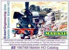 EE 1967/68 E $ EXC Marklin HO Catalog 1967 1968 Picture of 3098 P8 EXC Condition