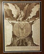 Lucifer Baphomet Satanic Poster Devil Poster Print Evil Halloween Gothic