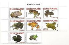 Surinam / Suriname 2009 Kikker Frog Frosch Grenouille MNH tab a