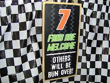 """# 7  Fans are Welcome/Others will be Run Over Wood 10"""" x 5 x .25"""" Sign"""