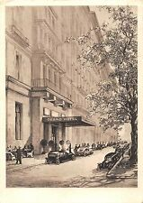 AK Wien Grand Hotel Strasse Auto Künstlerkarte gel. 1937