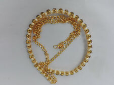 Indian Ethnic Traditional Gold Tone Chain Kamar Bandh Hip Waist Belt Jewelry