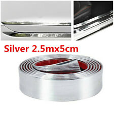 2.5mx5cm Car Rubber Sticker Bumper Door Sill Protector Edge Guard Strip Silver