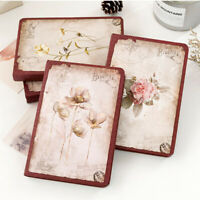 Vintage Flower Thick Blank Paper Notebook Notepad Journal Diary Sketchbook Book