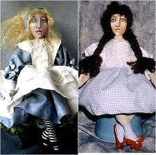 """*NEW* CLOTH ART DOLL (PAPER) PATTERN """"ALICE AND DOROTHY"""" BY CHRISTINE SHIVELY"""