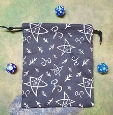 Cthulhu Elder Sign Dice Bag, Card Bag, Makeup Bag