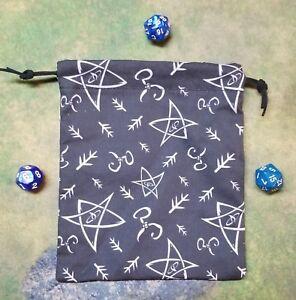 Cthulhu Elder Sign Dice Bag, Card Bag, Makeup Bag