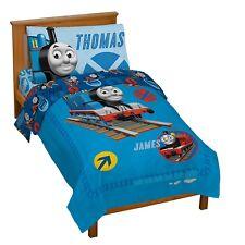 Toddler Bedding Set Thomas Train Boy Kids 4 Piece Comforter Sheets Gift New