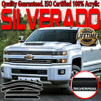 For 2014-2019 Chevy Silverado Crew Cab Window Vent Visors Rain Guards Deflectors