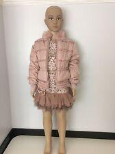 Kate Mack Girls Outfit, Set, Dress & Coat Size Age 6, Pink, Vgc