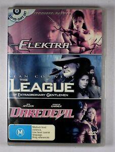 Elektra / League Of Extraordinary Gentlemen / Daredevil DVD FREE POST