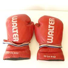 paire de gants de boxe  ancienne - Cuir Rouge - Gants d'entraînement -GF 04 8 oz