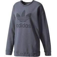 Adidas Originals Damen-Sweatshirt Trefoil Destroyed Used Look Sweater