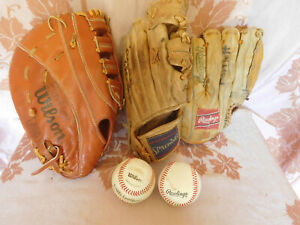 VINTAGE Lot YOUTH Leather Baseball Mitts / Gloves ~ FREE SHIPPING~